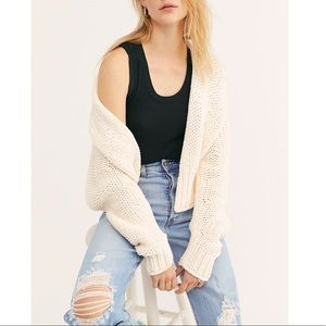 NWT Free People Glow For It Cardigan Sweater Ivory